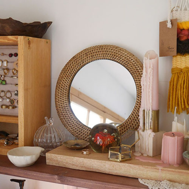 Summer Rattan mirror(2 sizes)